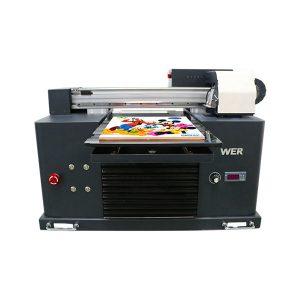 Specifiche Utilizzo: Stampante per card Tipo di piastra: Flatbed Condizione della stampante: Nuove dimensioni (L * W * H): 65 * 47 * 43 CM Peso: 62kg Grado automatico: Automatico Tensione: AC220 / 110V Garanzia: 1 anno Dimensioni di stampa: 16,5x30 CM , A4 DIMENSIONE Tipo di inchiostro: inchiostro UV LED nome del prodotto: Stampante digitale formato A4 di piccole dimensioni Stampante piana digitale Stampante a getto d'inchiostro: inchiostro UV LED Altezza di stampa: 0-50mm Sistema di inchiostro: sistema CISS Colori inchiostro: CMYKWW Numero di ugelli: 90 * 6 = 540 Software di stampa: WINDOWS SYSTEM EXCEPT WIN 8 Voltage :: AC220 / 110V Potenza lorda: 30W