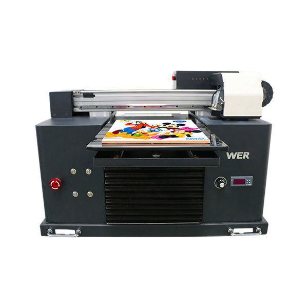 a3 size full automatic 4 colori dx5 printer head mini stampante uv dtg uv flatbe